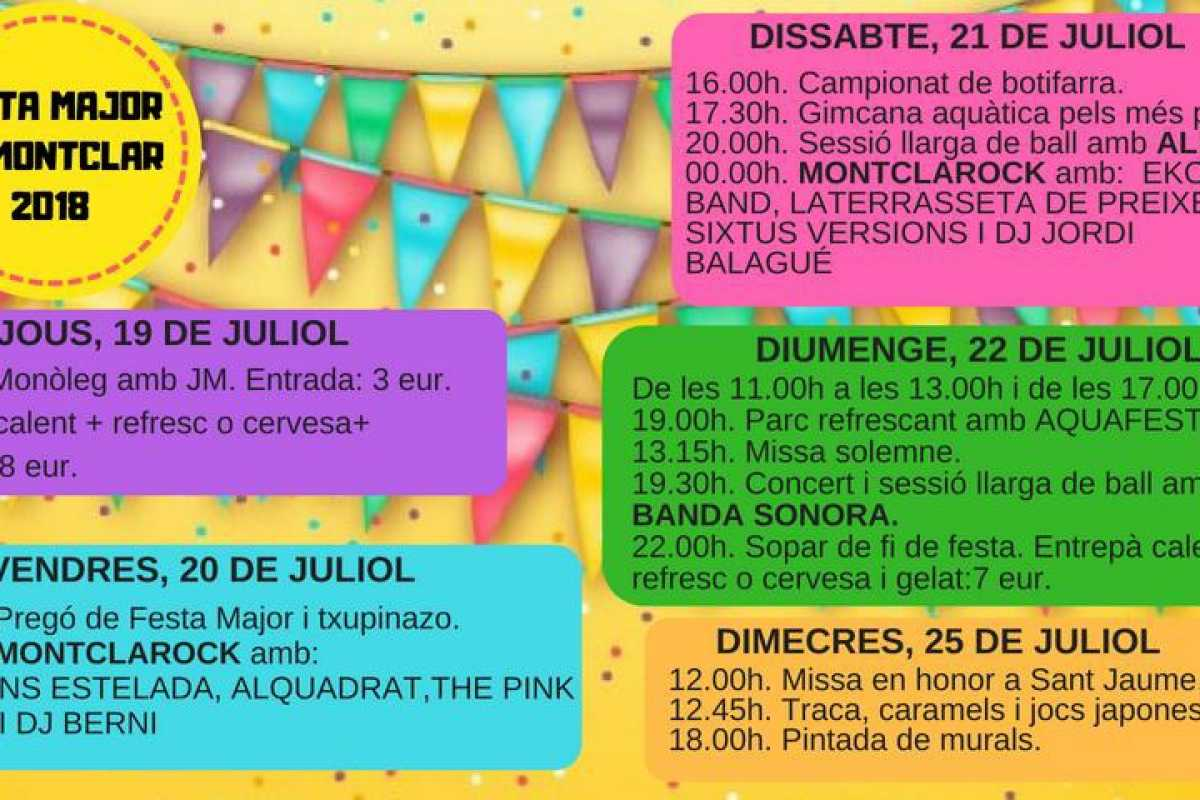 Festa Major de Montclar 2018